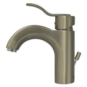 3-04040-BN - Wavehaus Single Hole/Single Lever Lavatory Faucet with Pop-up Waste