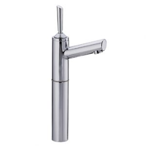 "3-3345-C - Centurion Single Hole Stick Handle Elevated Lavatory Faucet with 7"" Extension and Short Spout"