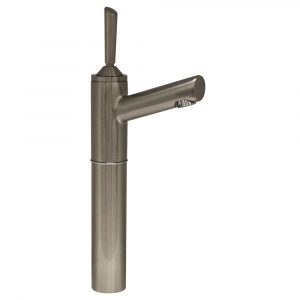 "3-3345-BN - Centurion Single Hole Stick Handle Elevated Lavatory Faucet with 7"" Extension and Short Spout"