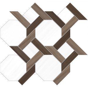 BMX-6000783 Vallelunga Dolomiti Mosaico 14.4 x 15 inch glazed porcelain tile