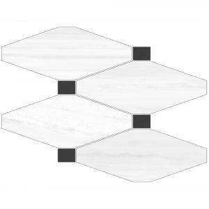 BMX-6000784 Vallelunga Dolomiti Mosaico 11.6 x 8.7 inch glazed porcelain tile