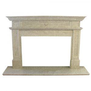 BMX-1003 Ambassador Verona marble fireplace mantel