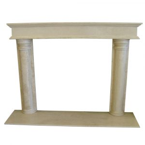 BMX-1008 Durango travertine fireplace mantel