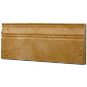 BMX-1030 5x12 Golden Sienna travertine baseboards, Honed / Unfilled