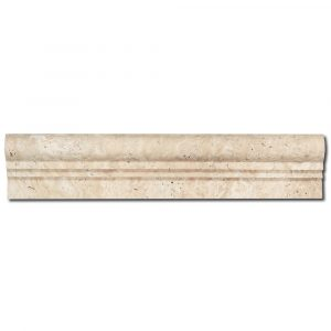 BMX-1038 2.5x12 Ivory travertine chairrails, Honed / Unfilled