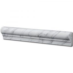 BMX-1060 2x12 Carrara White marble chairrails, Honed