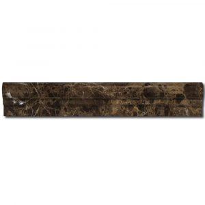 BMX-1062 2x12 Emperador Dark marble chairrails, Polished