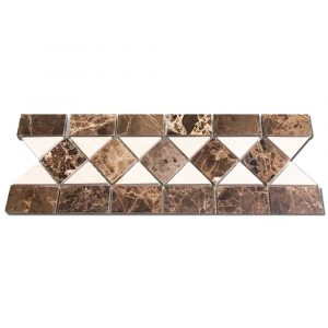 BMX-1076 4x12 Emperador Dark marble borders, Honed