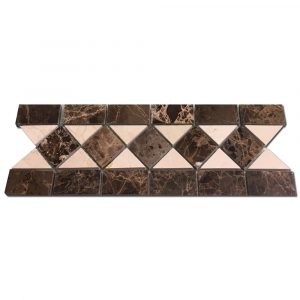 BMX-1077 4x12 Emperador Dark marble borders, Polished