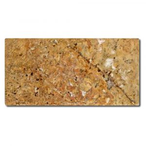 BMX-1091 3x6 Golden Sienna travertine tile, Tumbled
