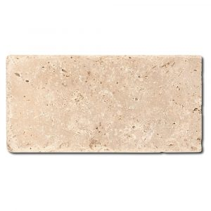 BMX-1092 3x6 Ivory travertine tile, Tumbled