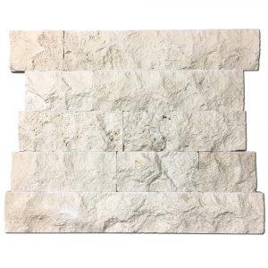 BMX-1106 4 Ivory travertine mosaics, Random Split Face