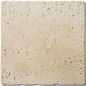 BMX-1108 4x4 Ivory travertine tile, Tumbled
