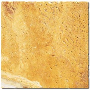 BMX-1111 4x4 Golden Sienna travertine tile, Tumbled