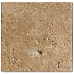 BMX-1112 4x4 Noce travertine tile, Tumbled