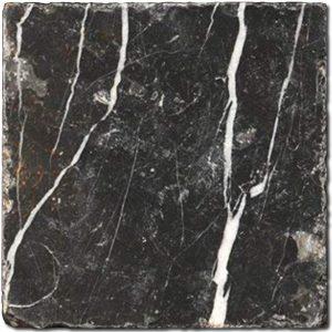 BMX-1115 4x4 Nero Marquina marble tile, Tumbled