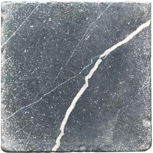 BMX-1131 6x6 Nero Marquina marble tile, Tumbled