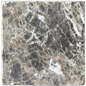 BMX-1132 6x6 Emperador Dark marble tile, Tumbled
