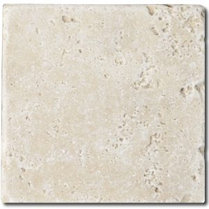 BMX-1135 6x6 Ivory travertine tile, Tumbled