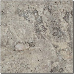 BMX-1136 6x6 Silver travertine tile, Tumbled