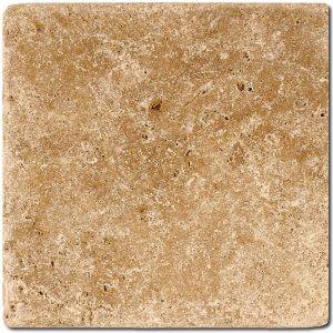 BMX-1137 6x6 Noce travertine tile, Tumbled
