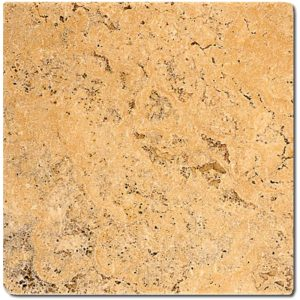 BMX-1138 6x6 Golden Sienna travertine tile, Tumbled