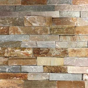 BMX-1141 6x24 Golden White Natural Quartzite Split Face Ledger
