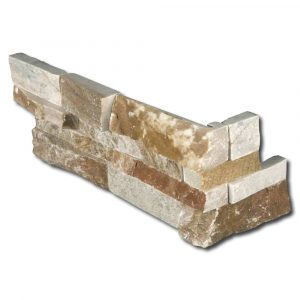 BMX-1144 6x24 Golden Ray Corner Marble Split Face Ledger