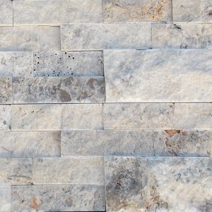 BMX-1147 6x24 Silver Travertine Split Face Ledger