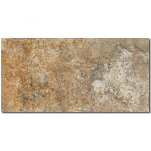 BMX-1155 8x16 Golden Sienna travertine veneer wall panel
