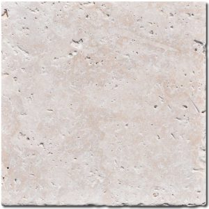 BMX-1177 12x12 Ivory travertine tile, Tumbled