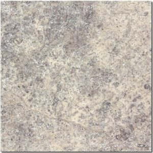 BMX-1178 12x12 Silver travertine tile, Tumbled
