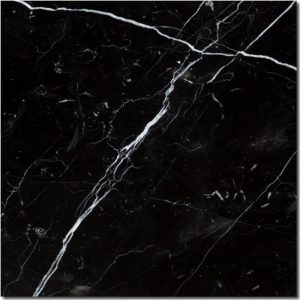 BMX-1205 12x12 Nero Marquina marble tile, Polished