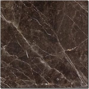 BMX-1216 12x12 St. Laurent Brown marble tile, Polished