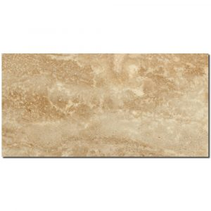 BMX-1259 12x24 Walnut Vein Cut  travertine tile, Polished