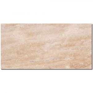 BMX-1267 12x24 Ivory Vein Cut travertine tile, Polished