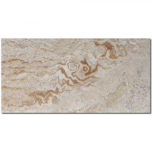 BMX-1271 12x24 Wooden Design travertine tile, Honed / Filled