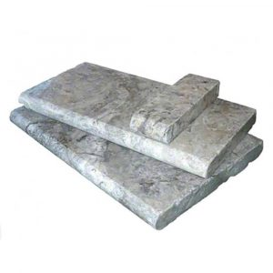 BMX-1334 12x24 Silver travertine pool coping
