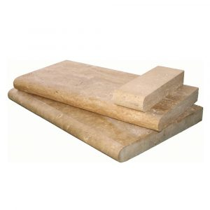 BMX-1337 12x24 Walnut travertine pool coping