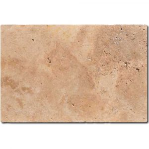 BMX-1356 16x24 Walnut travertine pavers, Tumbled