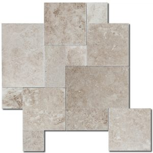 BMX-1604 Bundle Capuccino marble versailles pattern, Brushed / Chiseled