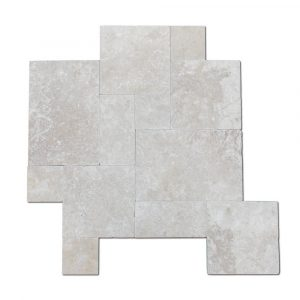 BMX-1611 16 square feet pack Classico travertine paver, Versailles Pattern