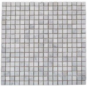BMX-1621 5/8x5/8 Carrara White marble mosaics, Tumbled