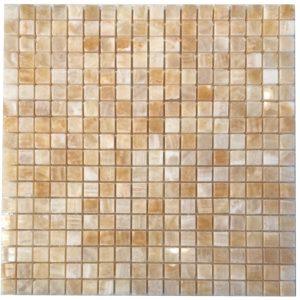 BMX-1622 5/8x5/8 Honey Onyx marble mosaics, Polished