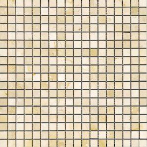 BMX-1626 5/8x5/8 Crema Marfil marble mosaics, Polished
