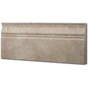 BMX-1809 5x12 Ivory travertine baseboards, Honed / Unfilled