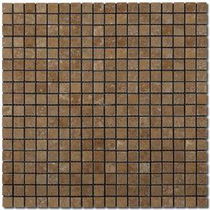BMX-2036 5/8x5/8 Noce travertine mosaics, Tumbled