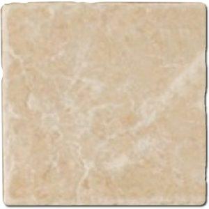 BMX-2067 4x4 Crema Marfil marble tile, Tumbled