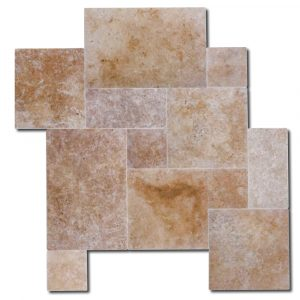 BMX-2127 Bundle Noce Pavers travertine versailles pattern, Tumbled