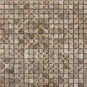 BMX-1817 5/8x5/8 Emperador Light marble mosaics, Tumbled